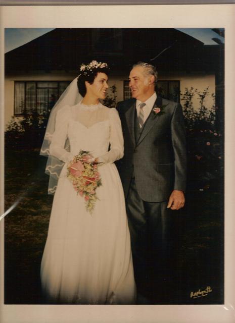 Die bruid en haar pa