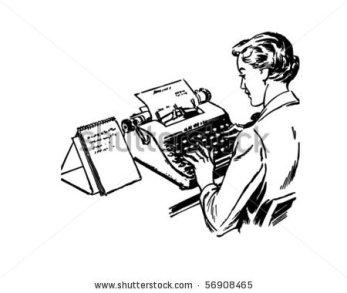 stock-vector-typist-retro-clip-art-56908465